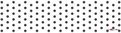 Colored dots black poster template