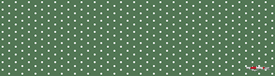 White dots dark green poster template