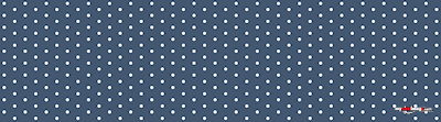 White dots dark blue poster template