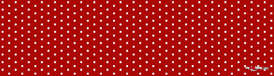 White dots red poster template