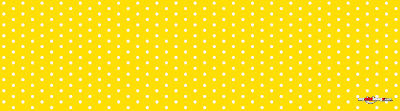 White dots yellow poster template