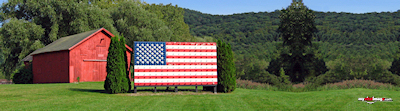 We Live In The Country American Flag Poster Template