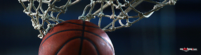 Basketball hoop close up poster template