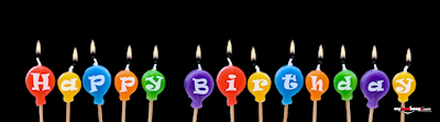 Birthday candles poster template