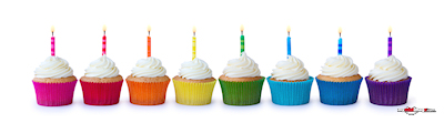 Birthday cupcakes poster template