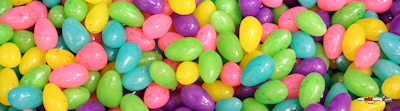 Easter jelly beans poster template