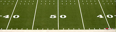 Football field sideline poster template