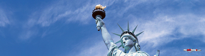 Fourth of July Statue of Liberty poster template