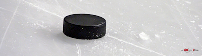 Ice hockey puck poster template