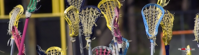 Lacrosse woman's sticks high poster template