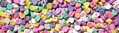 Valentines heart candies poster template
